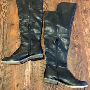 Breckelle's Over Knee Riding Boots Vegan Leather